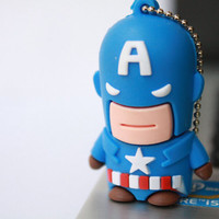 SALE30-70%OFF: 4GB Usb Super Captain Hero usb Flash Drive 4Gb , Cute Usb Flash Drive , Accessories , usb, Comic usb,