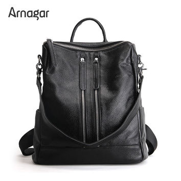Arnagar Genuine Leather Backpack Women Designer bags High Quality Shoulder Bags New School Bags For Teenagers Girls sac a dos