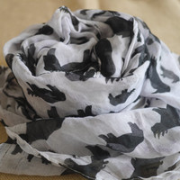 Winter Cotton scarf Women scarves Fashion accessories Christmas gift Scarf for women Hippo scarf