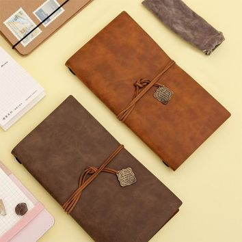 New Classic Japanese High Quality Faux Leather Cover 22x12cm Traveler's Notebook Diary Journal Vintage Retro Travel Note Book