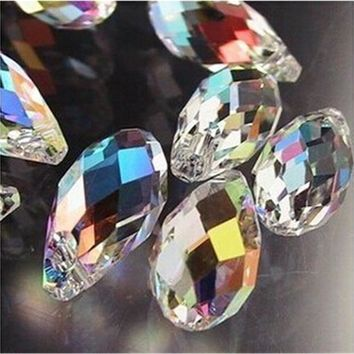 98Pcs/lot Droplet Bead 6X12mm Sharp Drop Beads Crystal Glass Diy Beaded Crafts Material Supplier Fit Jewelry Necklace DIY Making