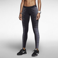 Nike Pro Flash Women's Running Tights Dri-FIT Reflective 618292-010 Silver