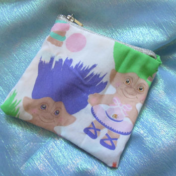 Vintage Treasure Trolls Glitter Coin Purse