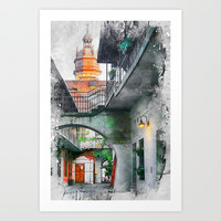 Cracow art 13 Kazimierz #cracow #krakow #city Art Print by jbjart