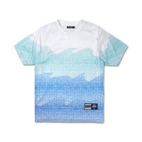 Waves Halftone Tee in White – Pink+Dolphin