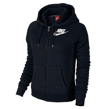 Nike Fashion Women Winter Zip Up Hoodie Jacket Sweater