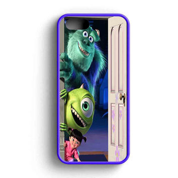 Sully Mike And Boo Open The Door Tardis Monsters Inc  iPhone 5 Case iPhone 5s Case iPhone 5c Case