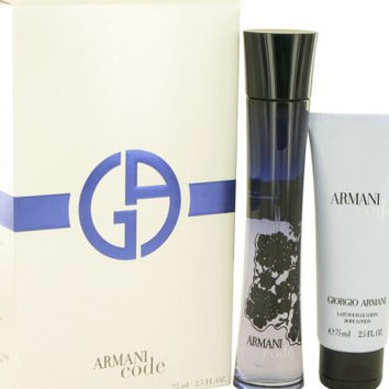 Armani Code by Giorgio Armani Gift Set — 2.5 oz Eau De Parfum Spray + 2.5 oz Body Lotion Women