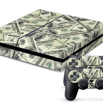 US Money Currency PS4 Skin + 2 Controller Skins