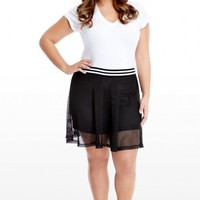 Plus Size Athena Athletic Stripe Skirt | Fashion To Figure