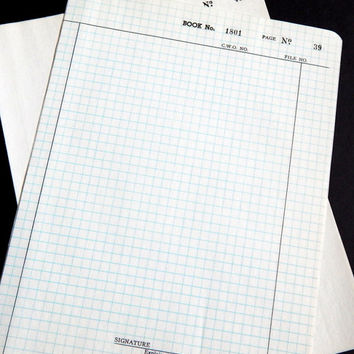 Vintage Numbered Graph Paper. Onion Skin Paper. Typewriter Paper. Ledger Paper. Notebook Paper. Journal Paper. Junk Journal Paper. Office.