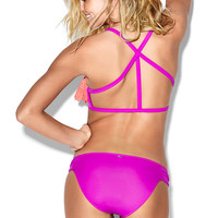 Ruched Side Bikini Bottom - PINK - Victoria's Secret