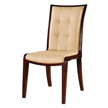 International Design USA C33-1 Remy Leather Dining Chair, Set of Two