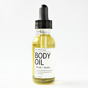 forest BODY OIL. vegan body oil - woods + smoke