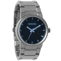 Nixon Blues Collection The Cannon Watch Gunmetal/Blue Crystal One Size For Men 22193911201
