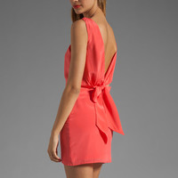 BEC&BRIDGE Sabine Reversible Drape Dress in Coral from REVOLVEclothing.com
