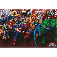 Marvel Heroes Collage Poster