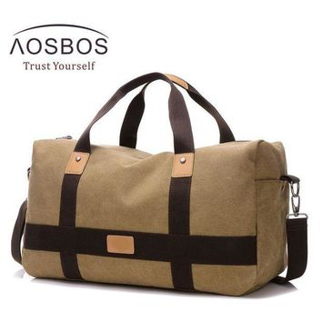 CREY3F Aosbos Training Gym Bag Men Women Canvas Sports Bag for Fitness Outdoor Traveling Storage Handbags Durable Shoulder Duffel Bag