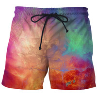 Fire Opal Swim Shorts