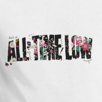 All Time Low floral logo t-shirt tee