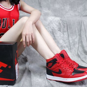 "[ Free Shipping ]Nike Air Jordan 1 Retro High OG 554724-601""Reverse Banned ""  Basketball Sneaker"