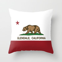 Glendale California Republic flag Throw Pillow by NorCal