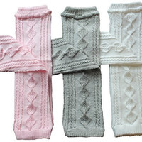 3 Pair Baby Leg Warmers Toddler Girls 3 Pair Argyle Cable Knit