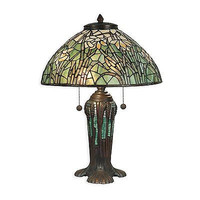 Dale Tiffany TT90429 2 Light Table Lamp, Antique Bronze