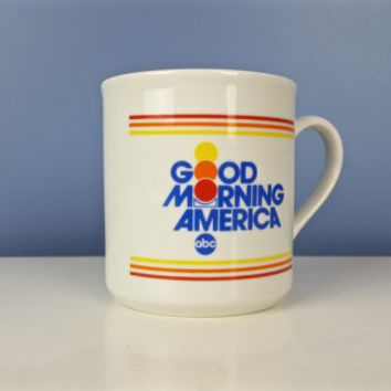 Vintage GMA ABC Good Morning America Mug Coffee Mug Tea Mug Tea Cup Coffee Cup NYC New York City News Station Collectible Memorabilia