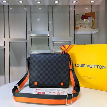 Kuyou Lv Louis Vuitton Fashion Women Men Gb29611 Inclined Shoulder Bag 22*25*8cm