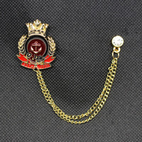 Fashion Pin Badge New Collar Pin Brooch Jewelry for Men Suit Boutonniere Cross Anchor Rose Crown Shape Collar Lapel Pins Broches