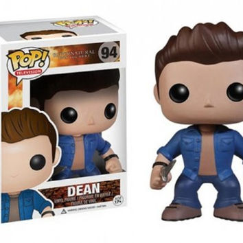 Funko Pop Movies Supernatural Action Figure Dean Winchester Collectible Model Toys Great Quality Christmas Gift
