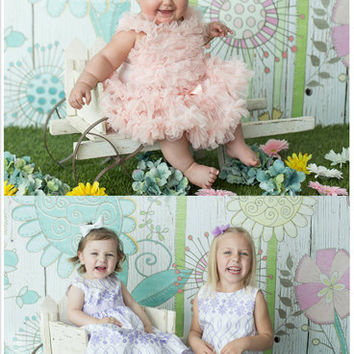 5ft*6.5ft Printed Wooden Wall for Flower Baby Photos Background Light Floor Photography Backdrops Kids Photo Studio Backdrop CM-6695
