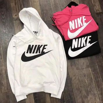 ONETOW Nike Fashion Women Hooded Top Pullover Sweater  Sweatshirt