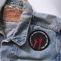 If it wasn't so Cold' Patch by Life Club - devil patch, hell, embroidered patch, punk patch, halloween decoration, hands patch
