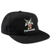 Thrasher Magazine Shop - Thrasher Mousegoat Hat - Snapback Cap in Black