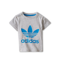 adidas Originals Kids Trefoil Tee (Infant/Toddler) Light Grey Heather/Solar Blue - Zappos.com Free Shipping BOTH Ways