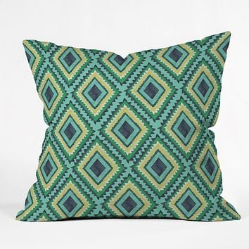 Vy La Island Diamond Throw Pillow
