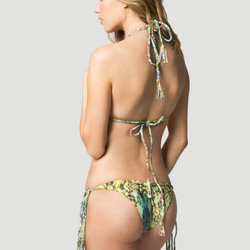 2014 Kai Lani Swimwear Skinny Braid Tie-Side Bottom in Mermaid