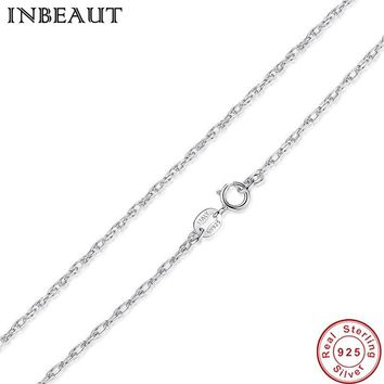 INBEAUT 925 Sterling Silver Wedding Chain Necklace Men and Women Authentic Silver Love Statement Chains Necklaces&Pendants Wife