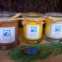 Baker's Delight Fragrance Collection Soy Candle Trio - Banana Nut Bread, Lemon Squares, and Very Vanilla 12oz Status Jars