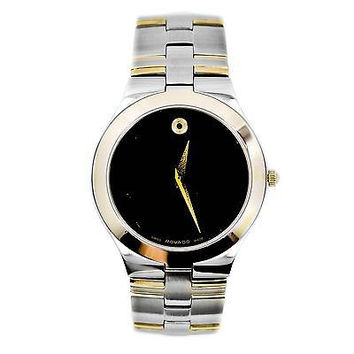 Movado Museum 81 G2 1899 Two-Tone Gold Plated Stainless Steel Men's Watch