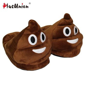 plush winter slippers indoor animal emoji furry house home with fur flip flops women f