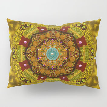 Mandala star on fur pop art Pillow Sham by Pepita Selles