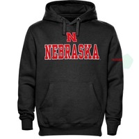 Nebraska Cornhuskers Double Shot Hoodie - Charcoal