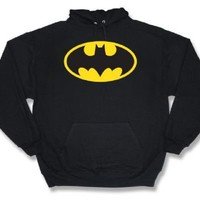 Batman Classic Logo Black Adult Hoodie Hooded Sweatshirt - Batman - | TV Store Online