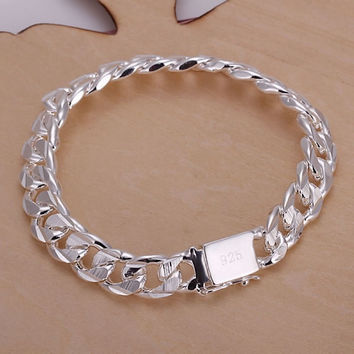 2015 new style fashion men and women silver jewelry 925 sterling silver Bracelets = 1946084356