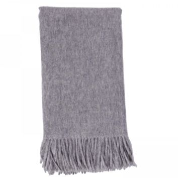 Cashmere Throw in Ash by Alashan