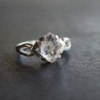 Unique Engagement Ring, Solid Sterling Silver Wedding Band, Gift for Mothers, Anniversary Ring, Handmade Diamond Ring, Boho Engagement Ring