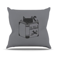 "Tobe Fonseca ""To Kill A Mockingbird"" Gray Cat Throw Pillow - Outlet Item"